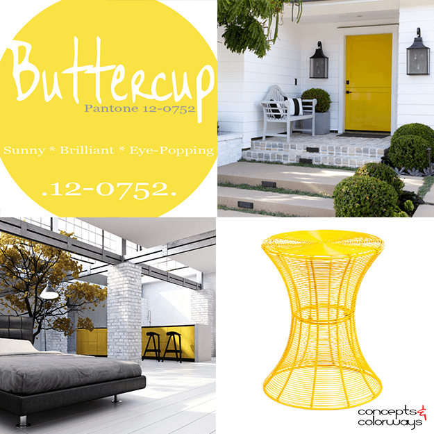 pantone buttercup interior design color trends