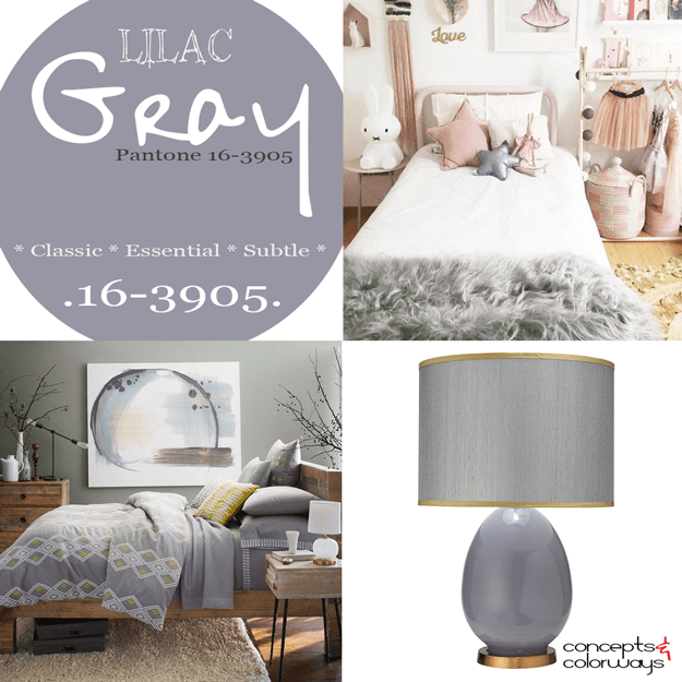 pantone lilac gray 2016 color trends