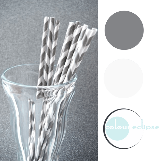 gray and white color palette with aqua accents