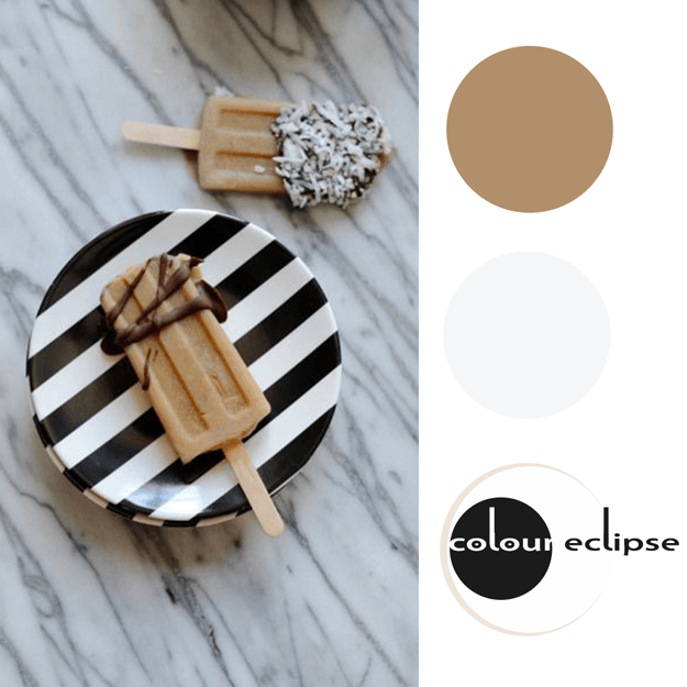 iced coffee popsicles with color palette