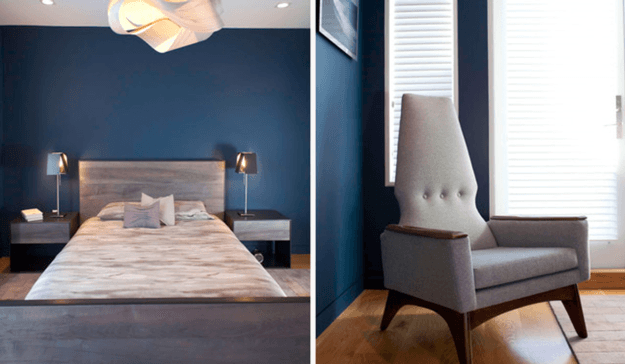 marine blue bedroom modern contemporary