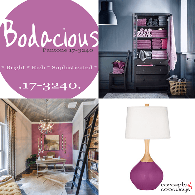 pantone bodacious used in interior design