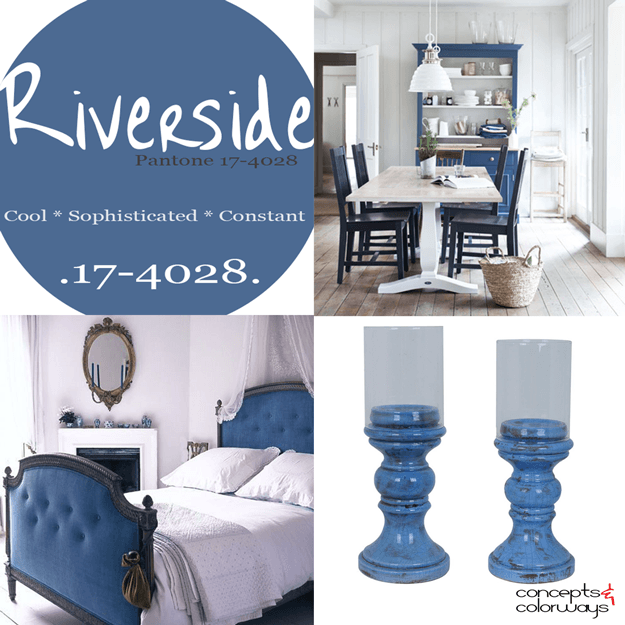 pantone riverside used in interior design