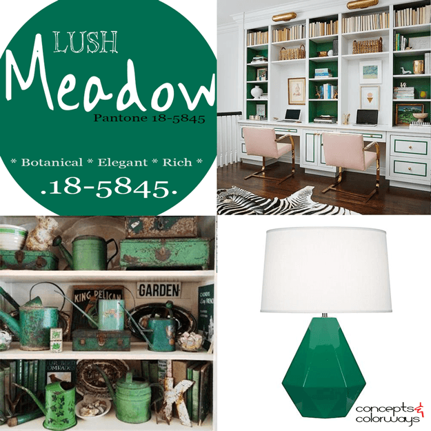 pantone lush meadow used in interior design