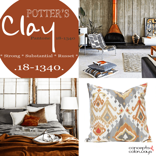 pantone potter's clay used in interior design