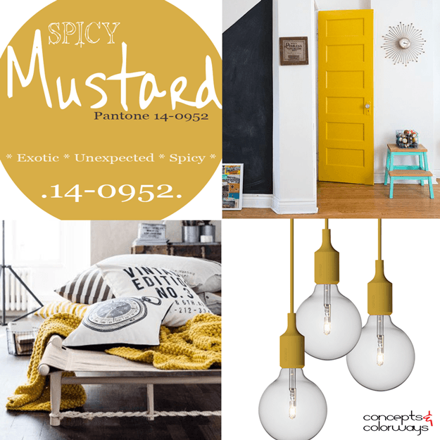 pantone spicy mustard used in interior design