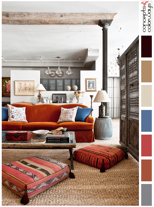 aztec tribal interior color palette