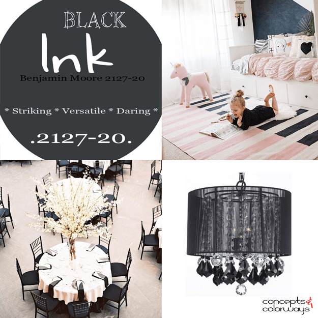 benjamin moore black ink color trend