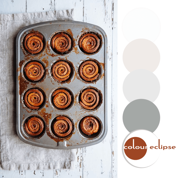 sticky bun inspired color palette
