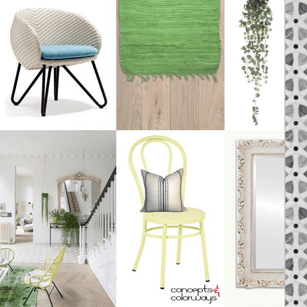 eclectic traditional interior mood board