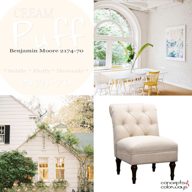 Benjamin Moore cream puff color trend