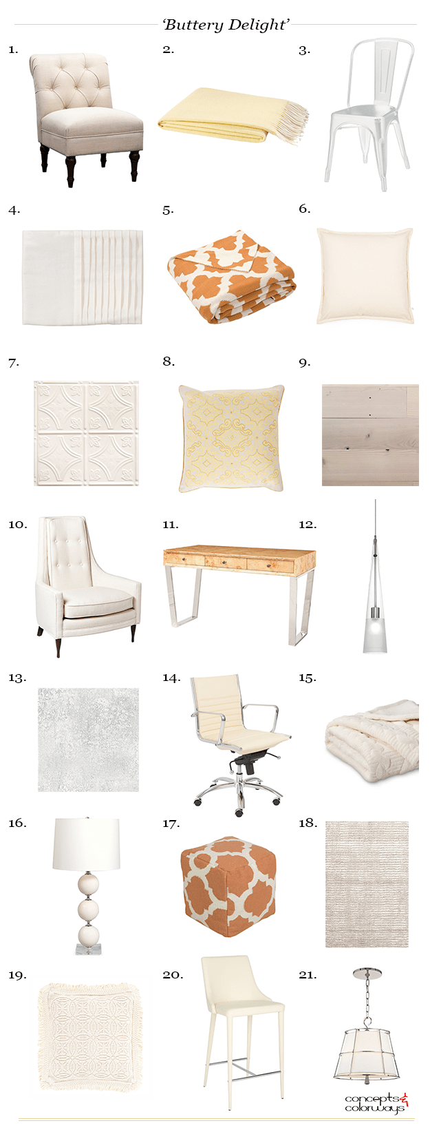 buttery delight interior design mood board get the look