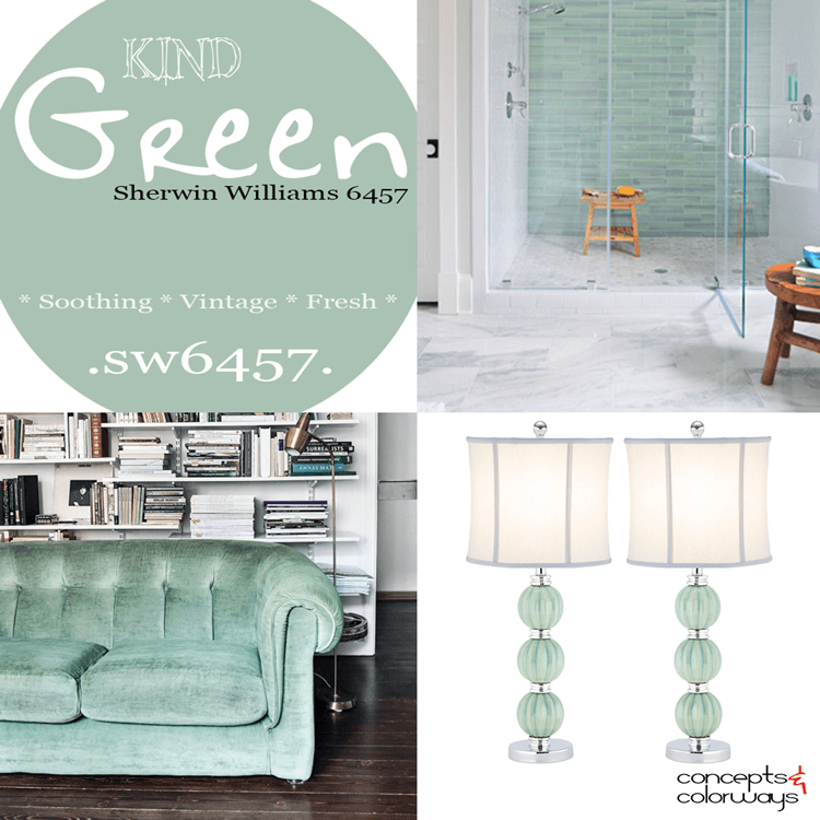 2016 color trends, 2016 colormix, sherwin williams kind green, kind green color trends, seafoam green, eucalytus green, mint green