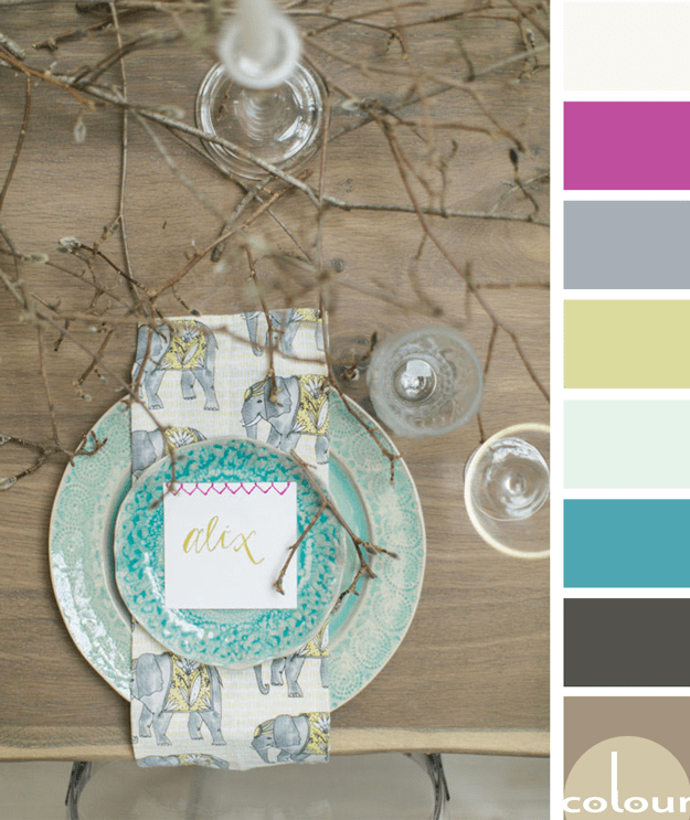 woodsy color palette with colorful accents