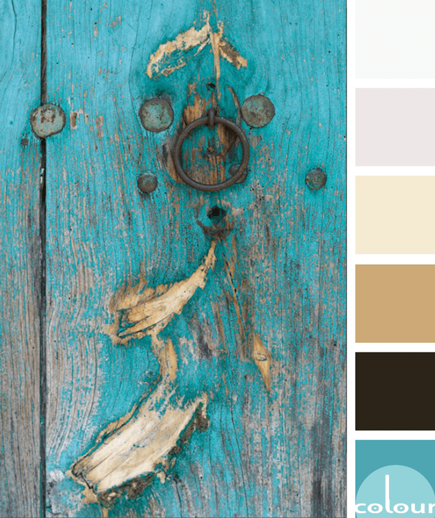 weathered turquoise door color palette