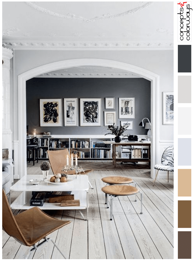 interior with naturl materials color palette