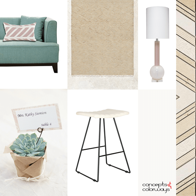 duck egg blue and brown interior mood board