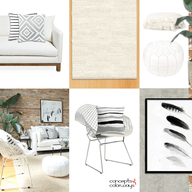 urban neutrals interior design mood board