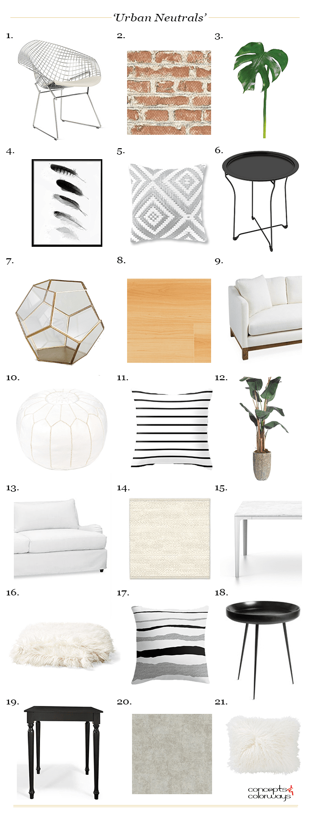 urban neutrals interior product roundup get the look
