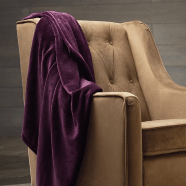 purple velvet blanket
