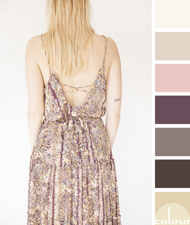 taupe sun dress inspired color palette