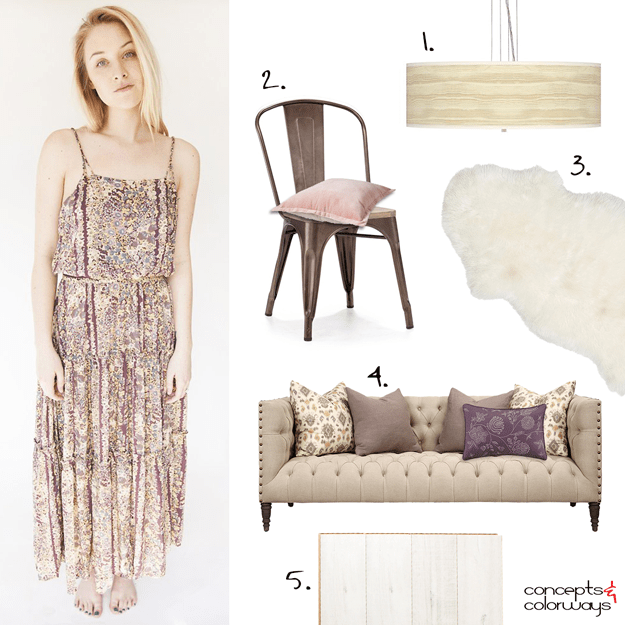 taupe dress inspired interior design