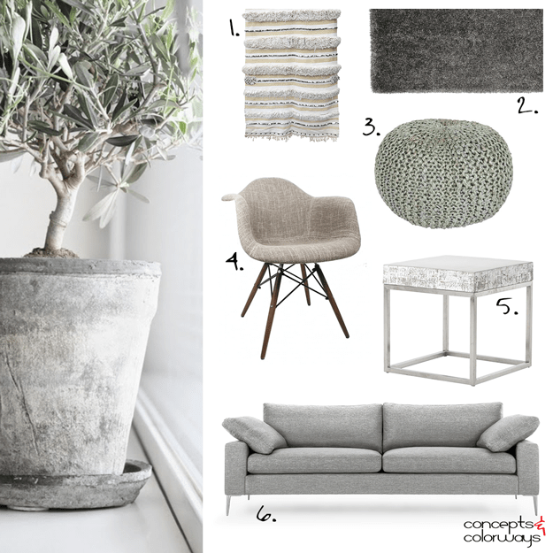 neutral interior design get the look with olive gray accent