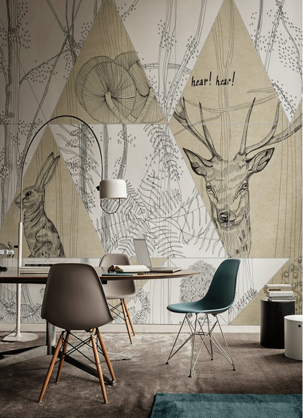 large scale graphic wallpaper