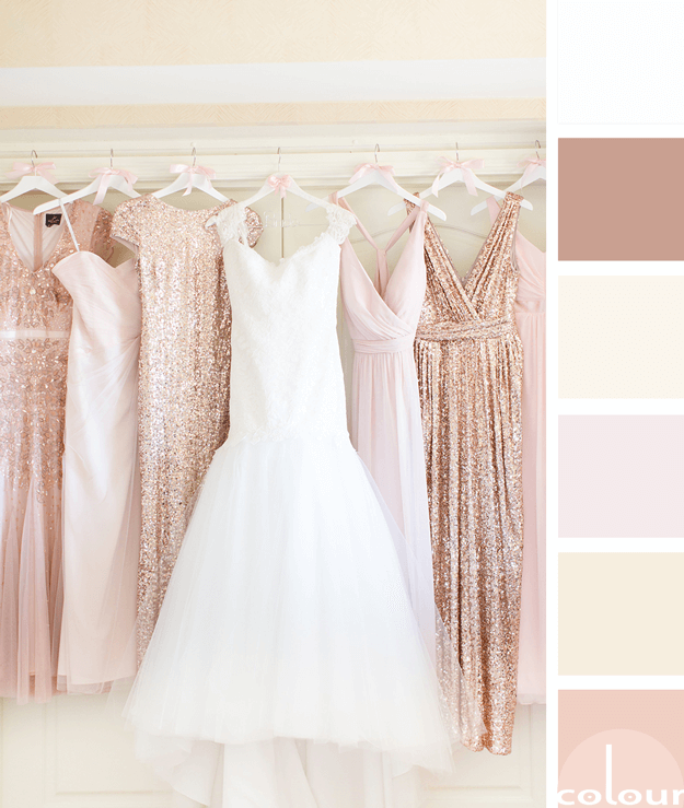 blush toned wedding color palette