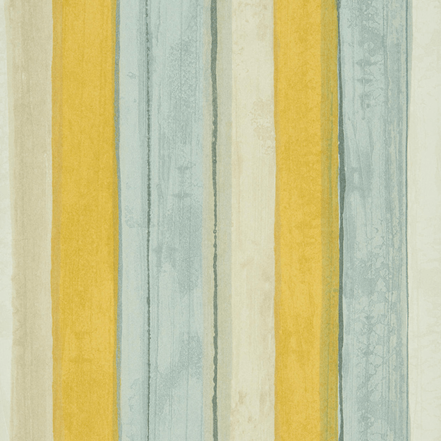 striped mint and bright yellow wallpaper