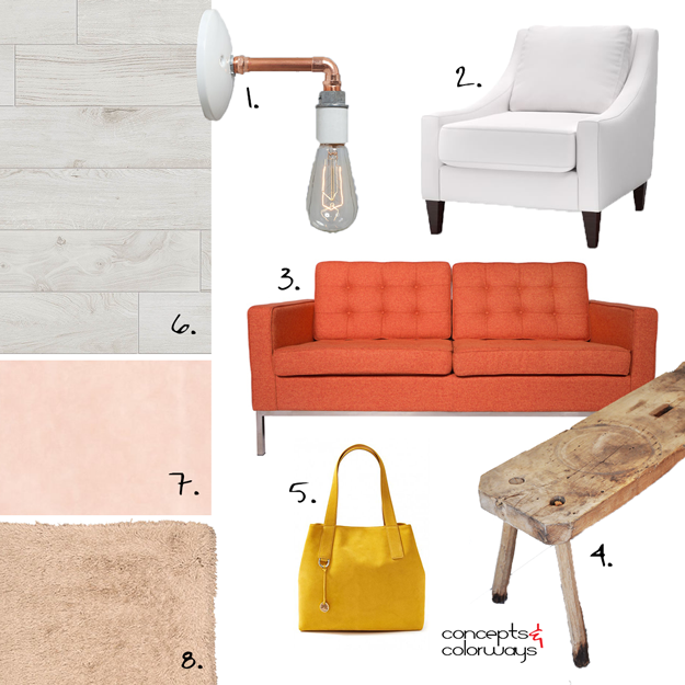 blush sizzle interior design mood board