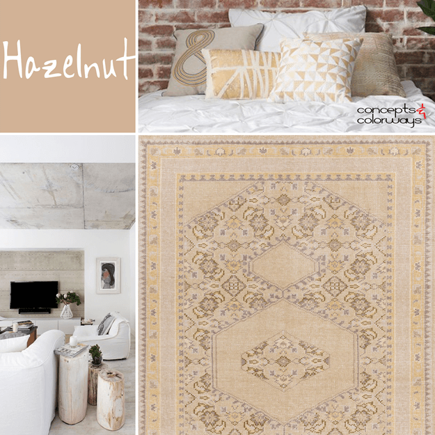 pantone hazelnut interior design