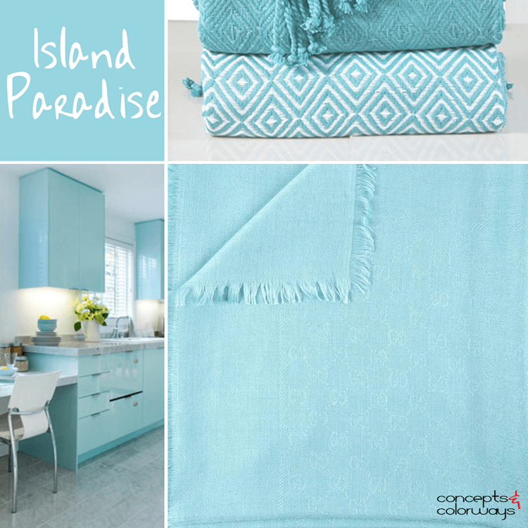pantone island paradise, turquoise blue, sky blue, light blue, baby blue, color for interiors, color trends, color trends 2017