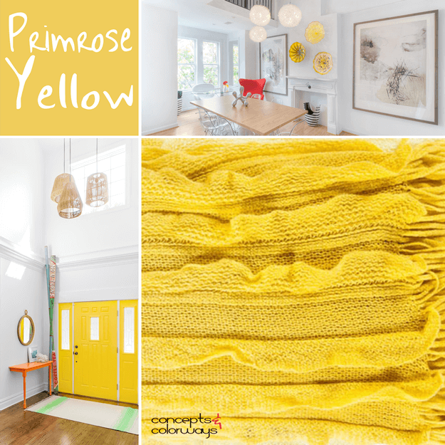 pantone primrose yellow interior design