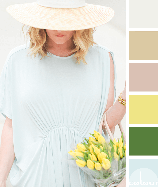 mint blue maxi dress color palette