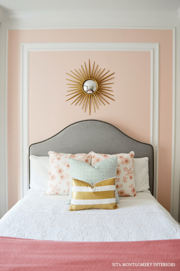 Pantone pale dogwood concepts and colorways - Grey and gold bedroom ...