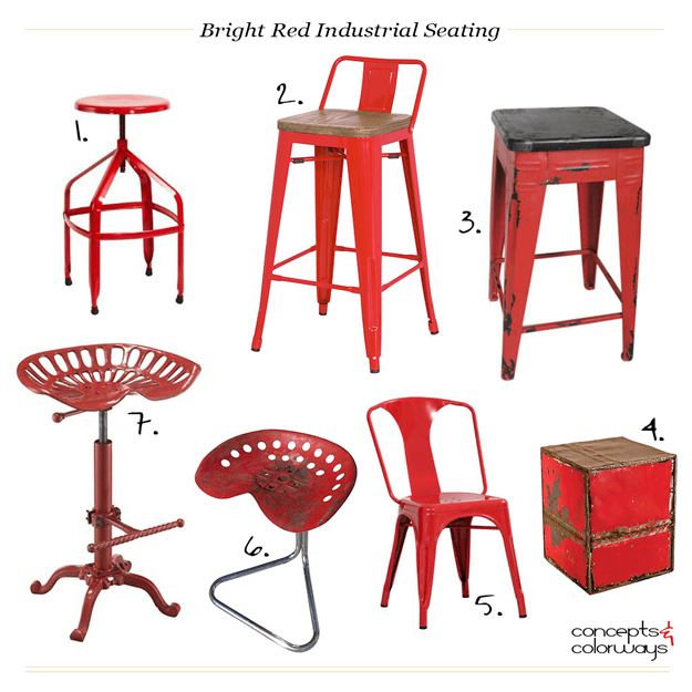 bright red industrial seating product roundup