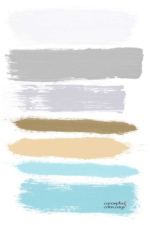 brushstrokes color palette