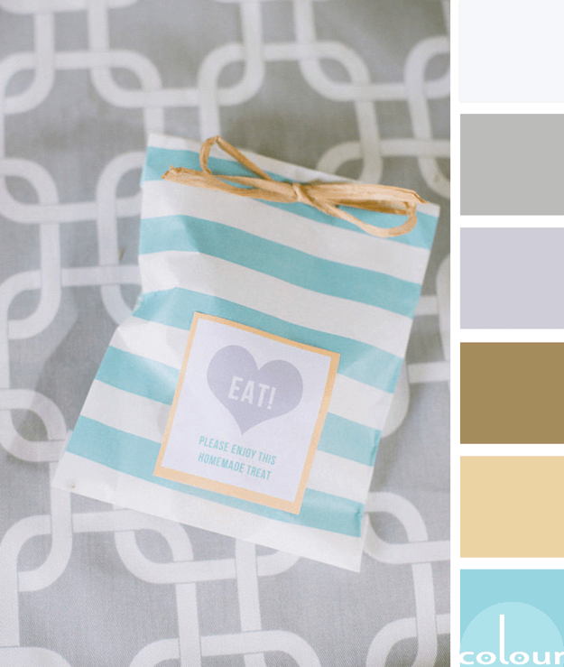 gray turquoise straw yellow color palette