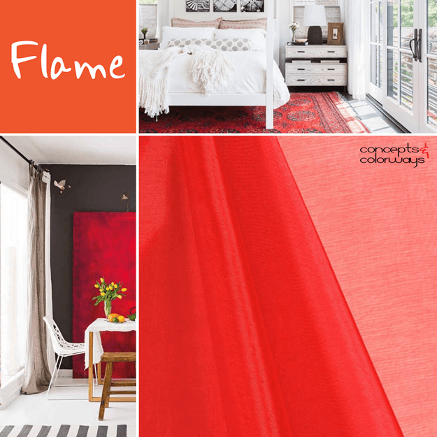 pantone flame for interior design