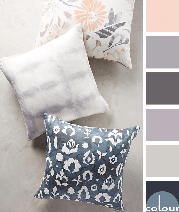 anthroplogie pillows with color palette