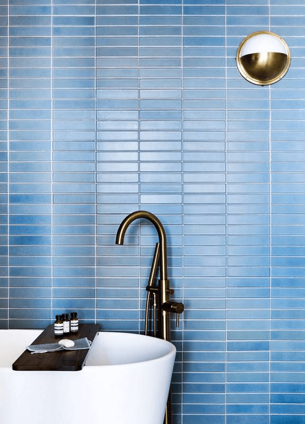 slate blue mosaic wall tile