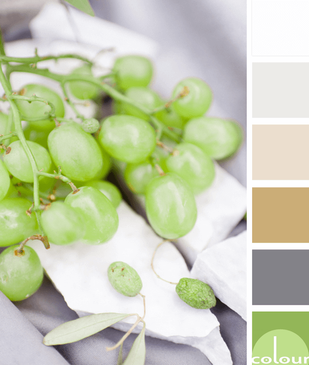 green grapes inspired color palette