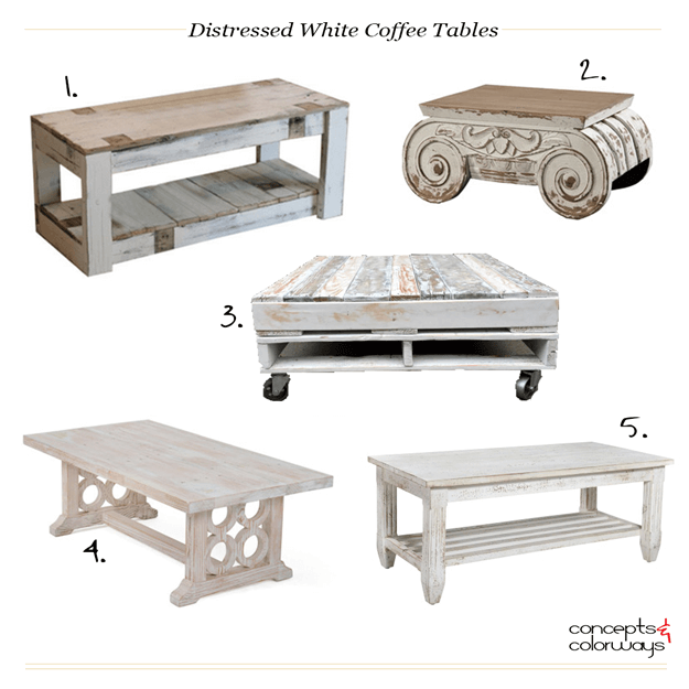 white distressed coffee table product roundup