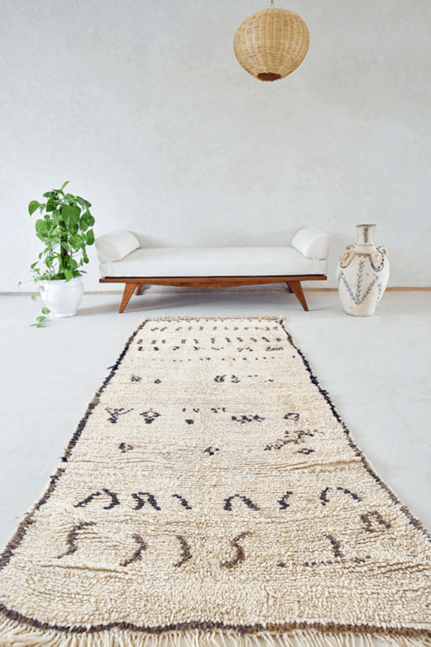 light brown moroccan tribal rug