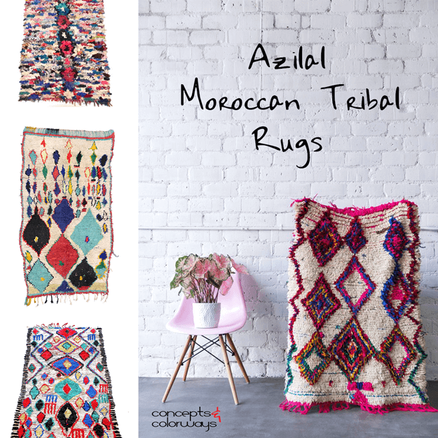 azilal moroccan tribal rugs design element