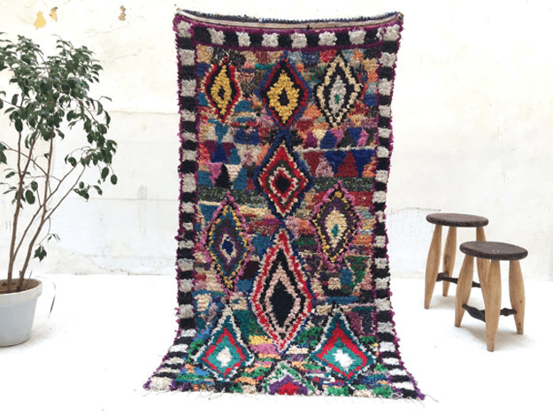 diamond pattern azilal tribal rug