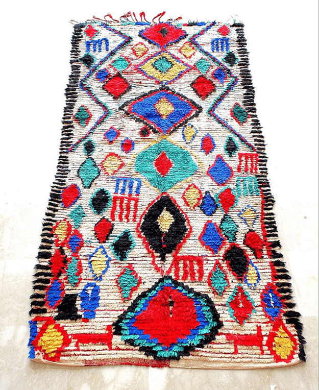 colorful diamond azilal rug