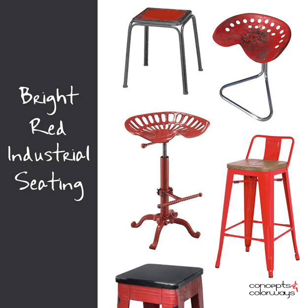 BRIGHT RED INDUSTRIAL SEATING