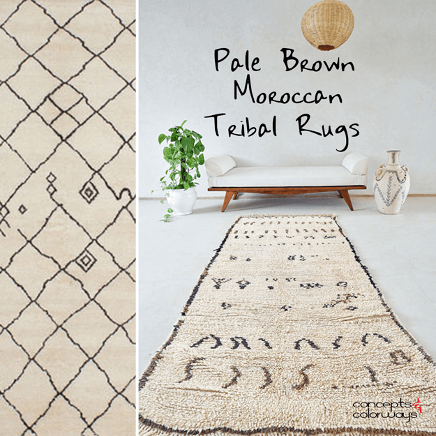 pale brown moroccan tribal rug